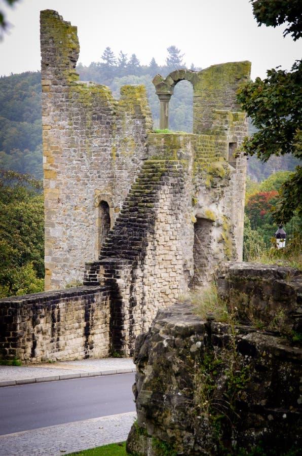 卢森堡Fortess废墟 库存照片