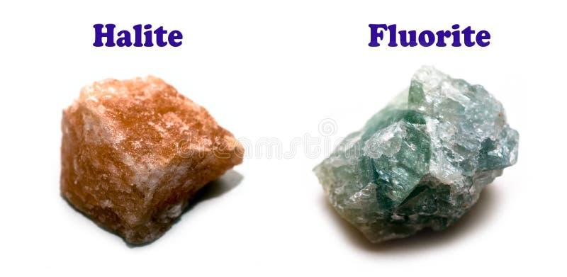 卤化物的矿物二 库存图片
