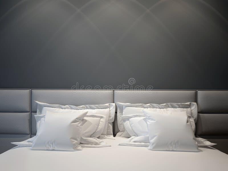 卧室双现代 库存图片
