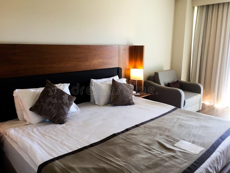 卧室在旅馆 免版税图库摄影