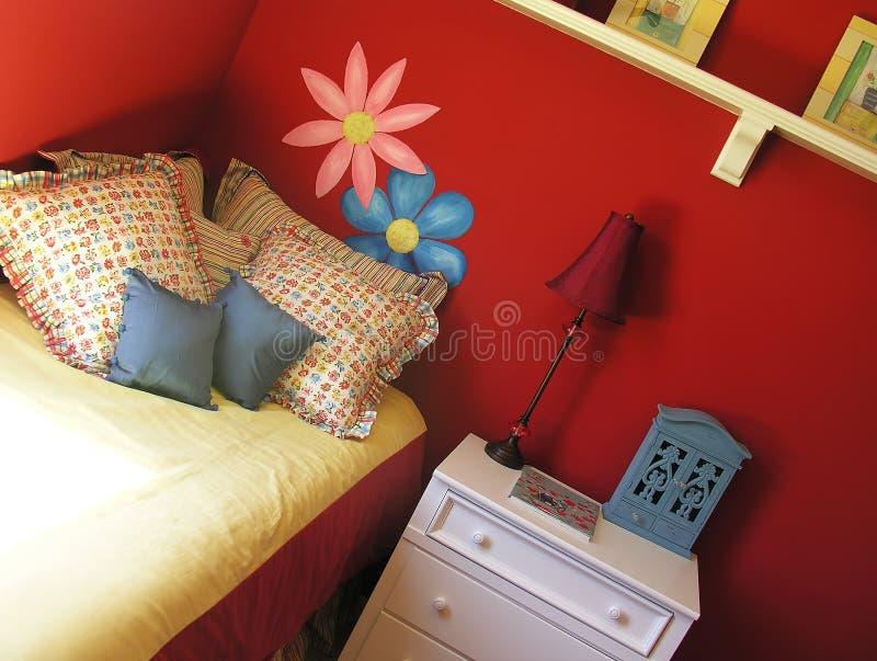 卧室女性 免版税图库摄影