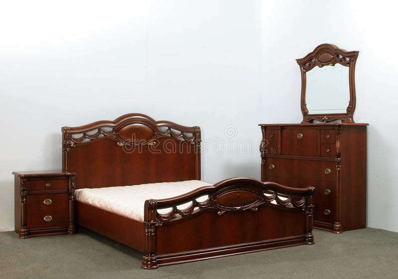 卧室床 库存照片