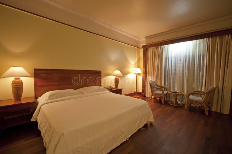 卧室当代旅馆 免版税库存照片