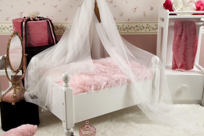 卧室微型设置 库存图片