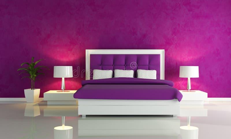 卧室方式紫色 皇族释放例证