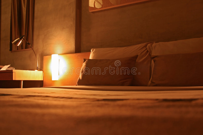 卧室旅馆 库存图片