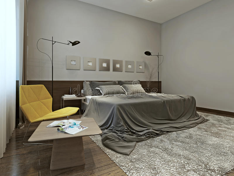 卧室构成主义样式 库存例证