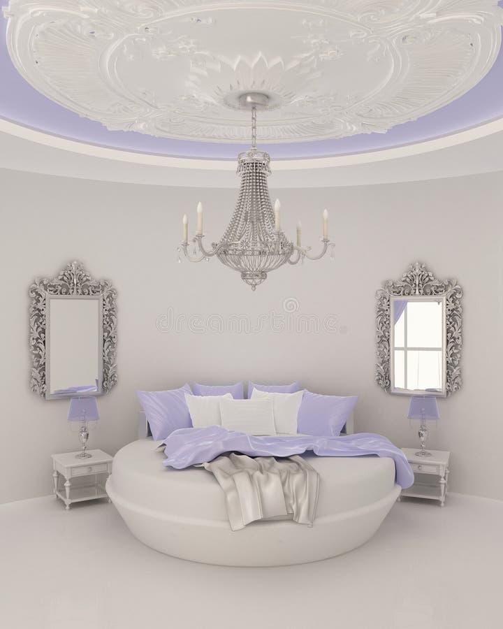 卧室现代最高限额的装饰 向量例证