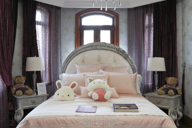 卧室的法国样式 库存图片