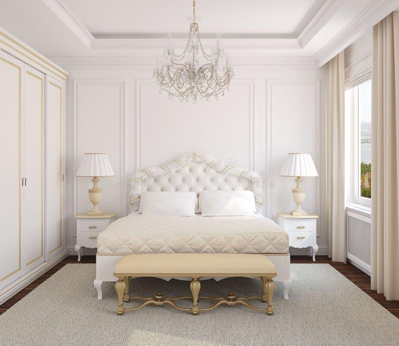 卧室经典内部 向量例证