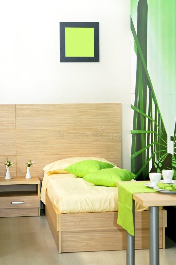 卧室绿色 免版税库存照片