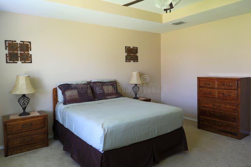 卧室背景 库存图片