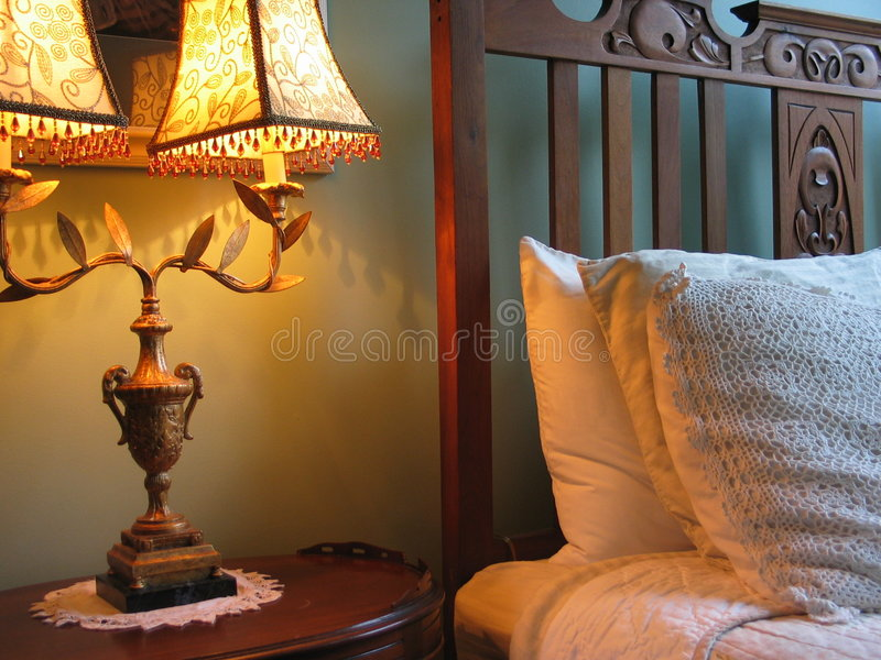 卧室舒适场面 免版税库存图片