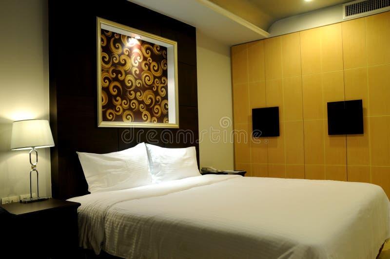 卧室舒适旅馆 免版税库存照片