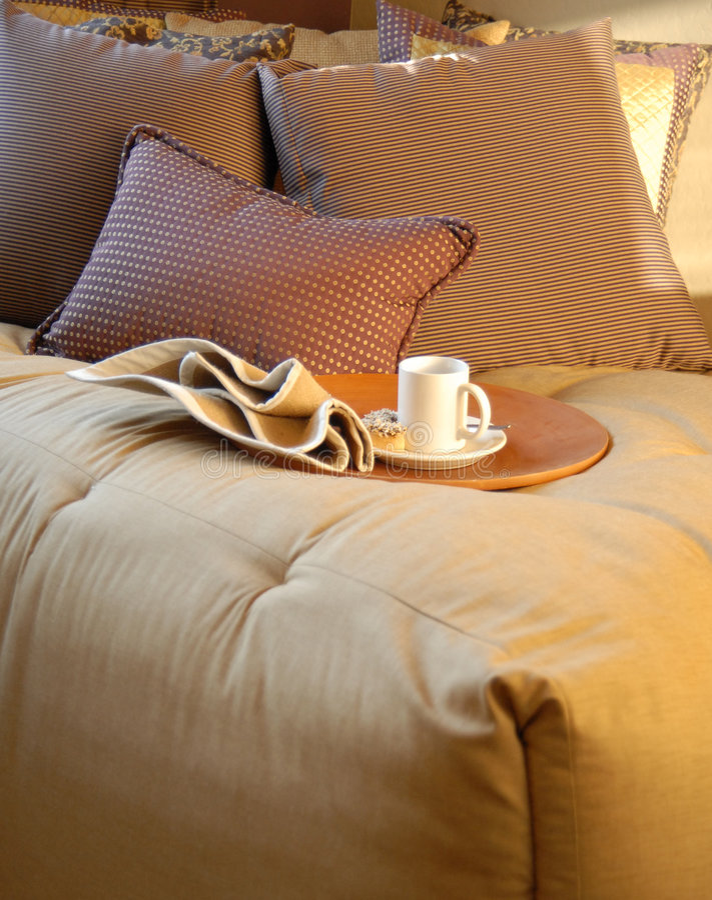 卧室舒适设计内部系列 免版税库存照片