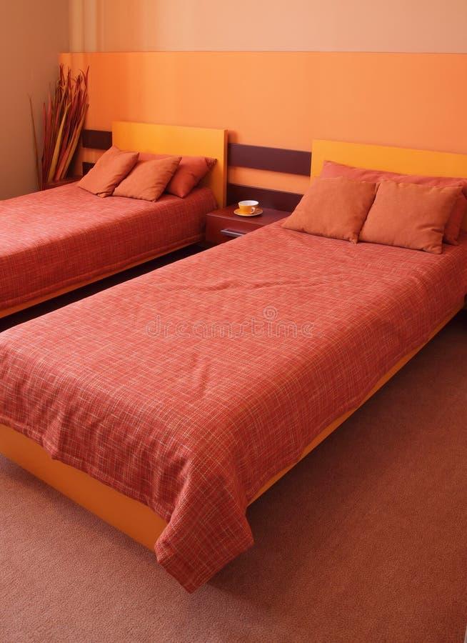 卧室设计内部现代 库存照片
