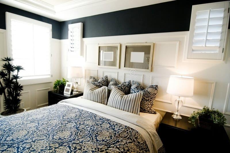 卧室设计内部 库存照片