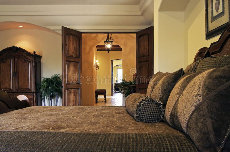 卧室豪宅手段套件 免版税库存图片