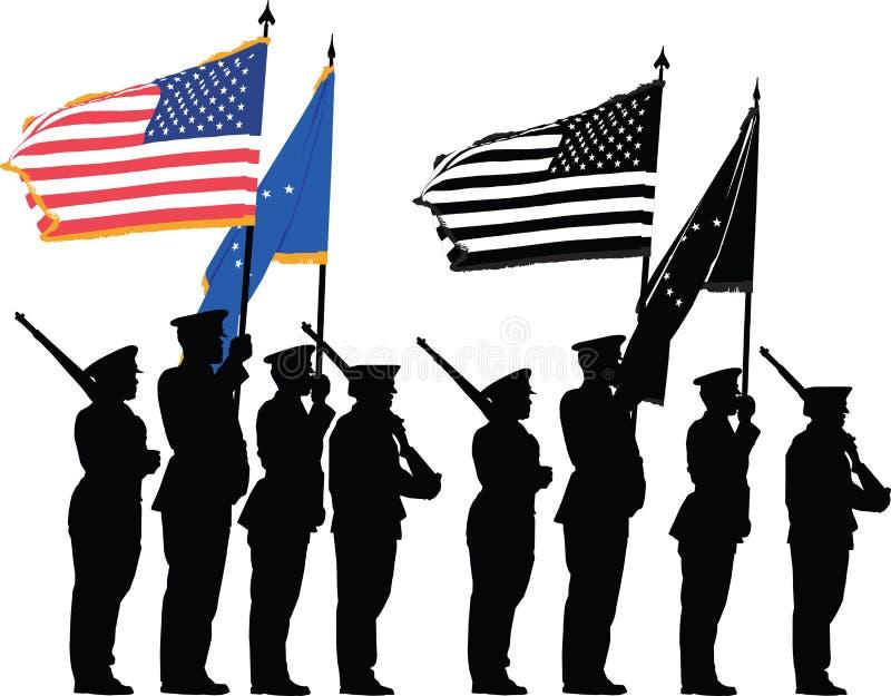 卫兵荣誉称号 向量例证