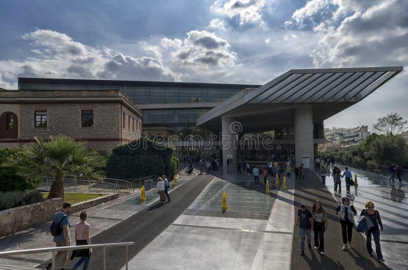卫城博物馆的外视图雅典Dionysiou Areopagitou街的 免版税图库摄影