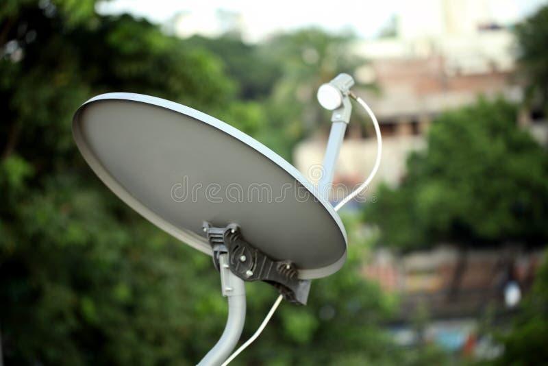 卫星电视收货人 免版税库存照片