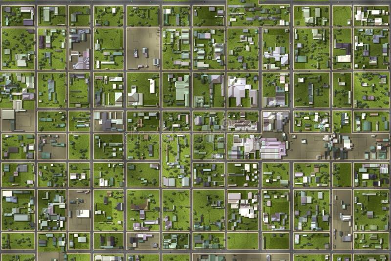 卫星视图 向量例证