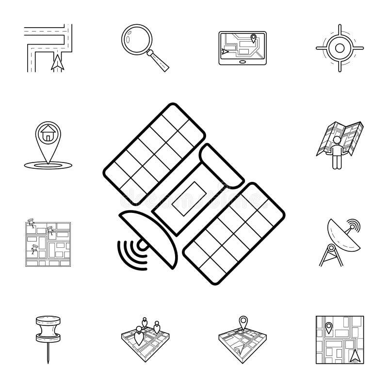 卫星象 详细的套航海象 优质图形设计 其中一个网站的汇集象,网络设计, 皇族释放例证
