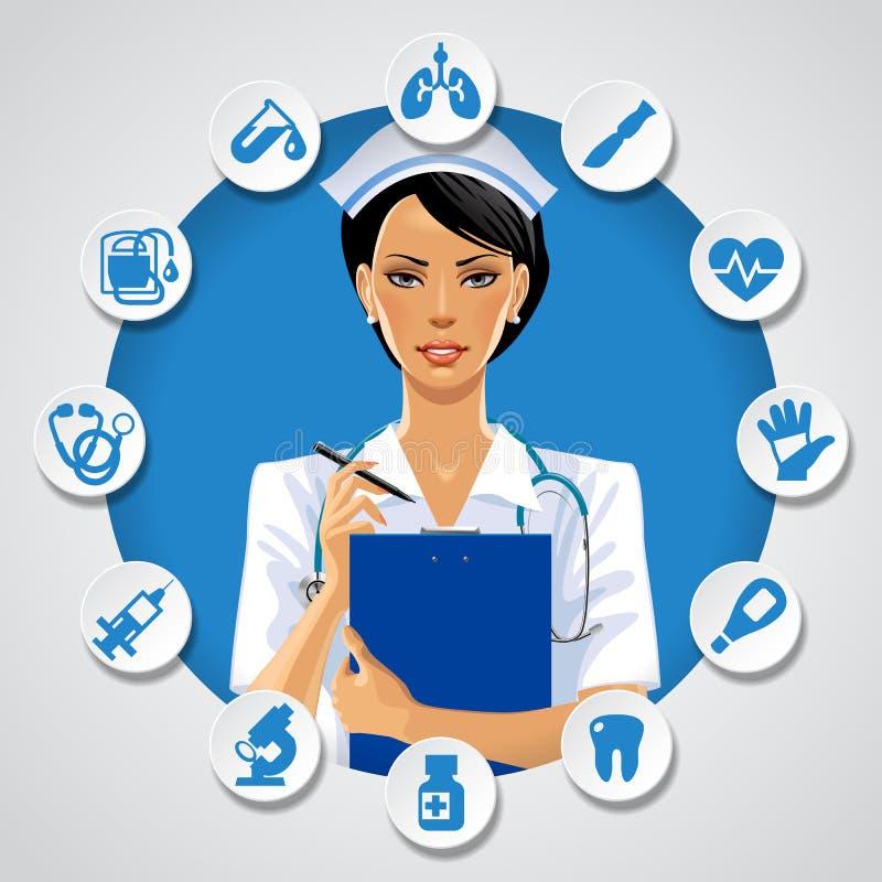 卫生保健模板 向量例证