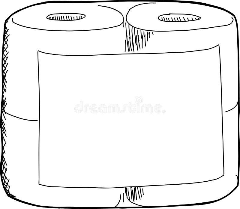 卫生纸剪影 皇族释放例证