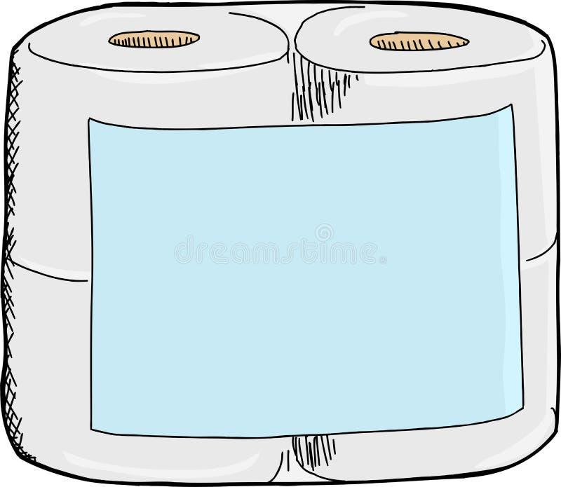 卫生纸包裹 库存例证