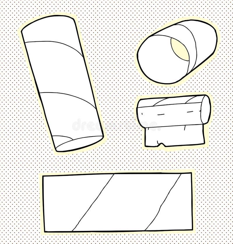 卫生纸管 库存例证
