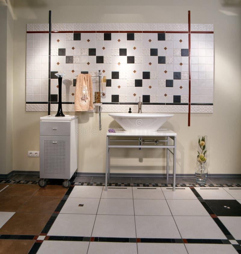 卫生间内部现代 免版税库存照片