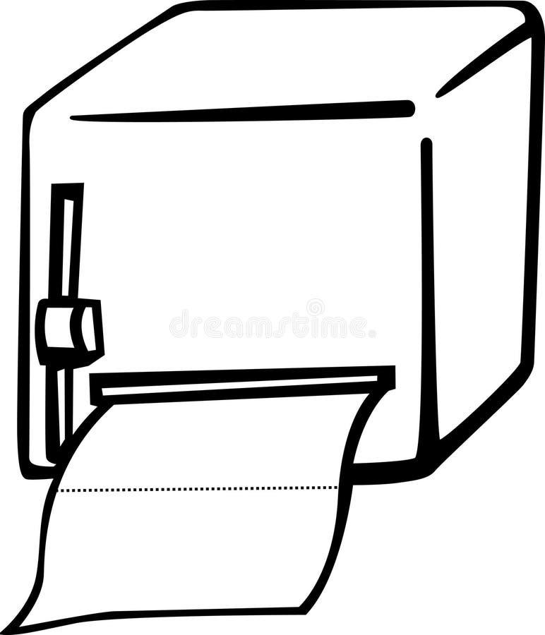 卫生间分配器纸张 皇族释放例证