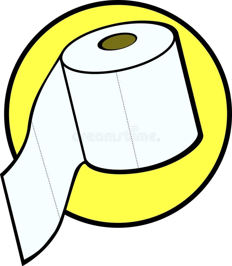 卫生间卫生纸卷向量 库存例证