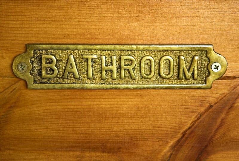 卫生间古铜色符号 库存图片