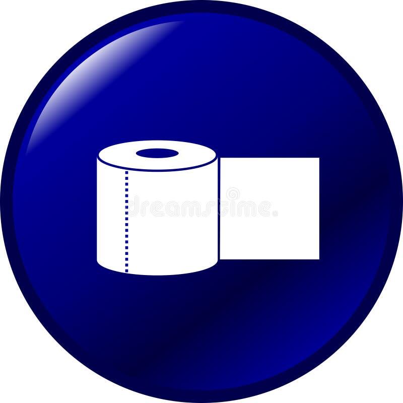 卫生间按钮纸张 皇族释放例证