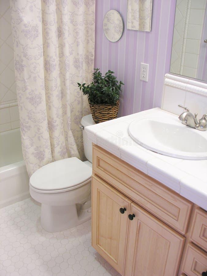 卫生间淡紫色 免版税库存图片