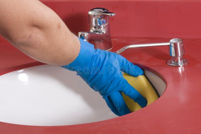 卫生间清洁水槽 库存图片