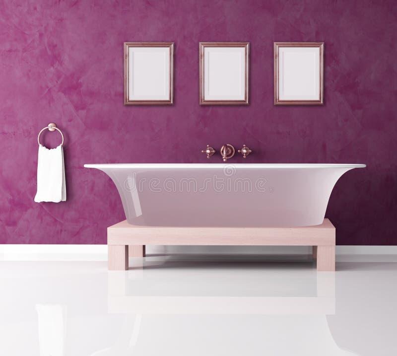 卫生间紫色 库存例证