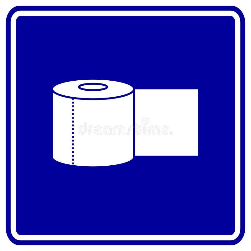 卫生间纸张卷符号 库存例证