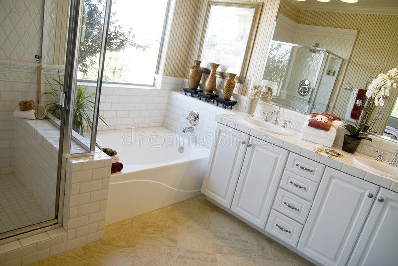 卫生间美好的设计内部 库存照片