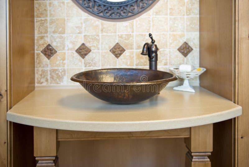 卫生间装饰水槽 免版税库存图片