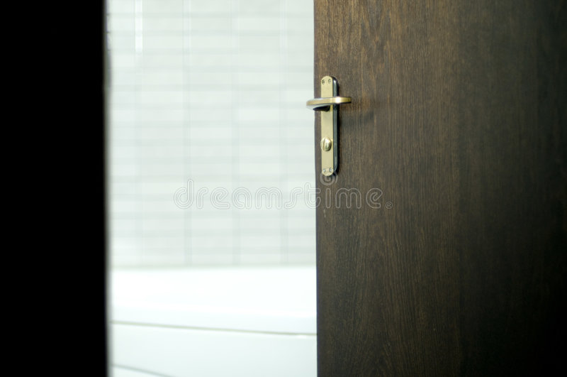 卫生间门 免版税库存照片