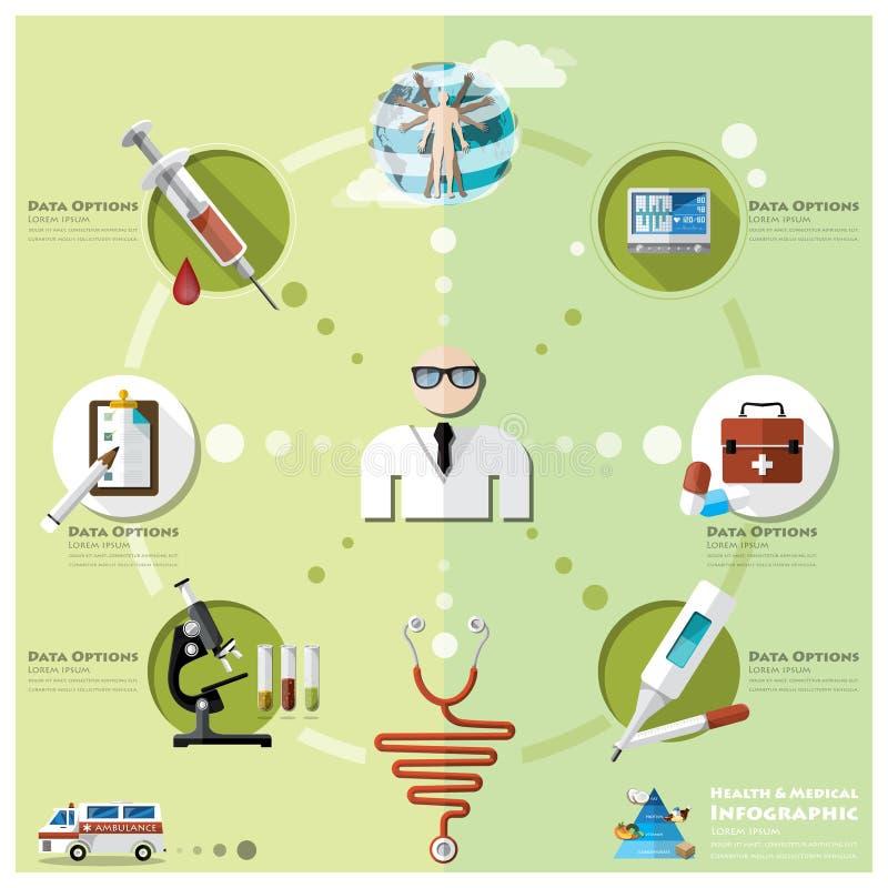 卫生医疗Infographic 皇族释放例证