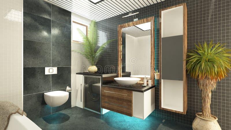 卫生间设计 向量例证