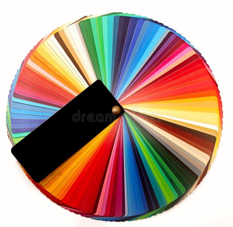 印刷业的色板显示指南 库存照片