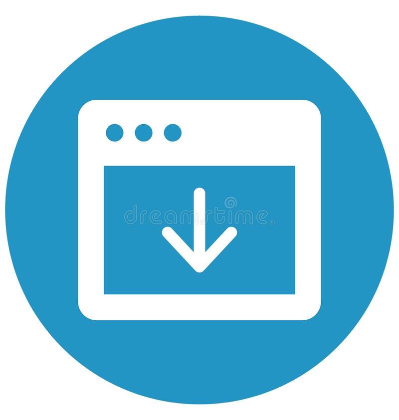 印刷品下载充分地编辑可能按钮的传染媒介与浏览器窗口有关和 皇族释放例证