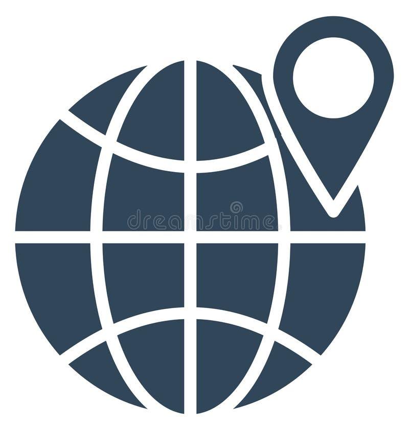 印刷品全球性地点隔绝了可能容易地修改或编辑的传染媒介象 皇族释放例证