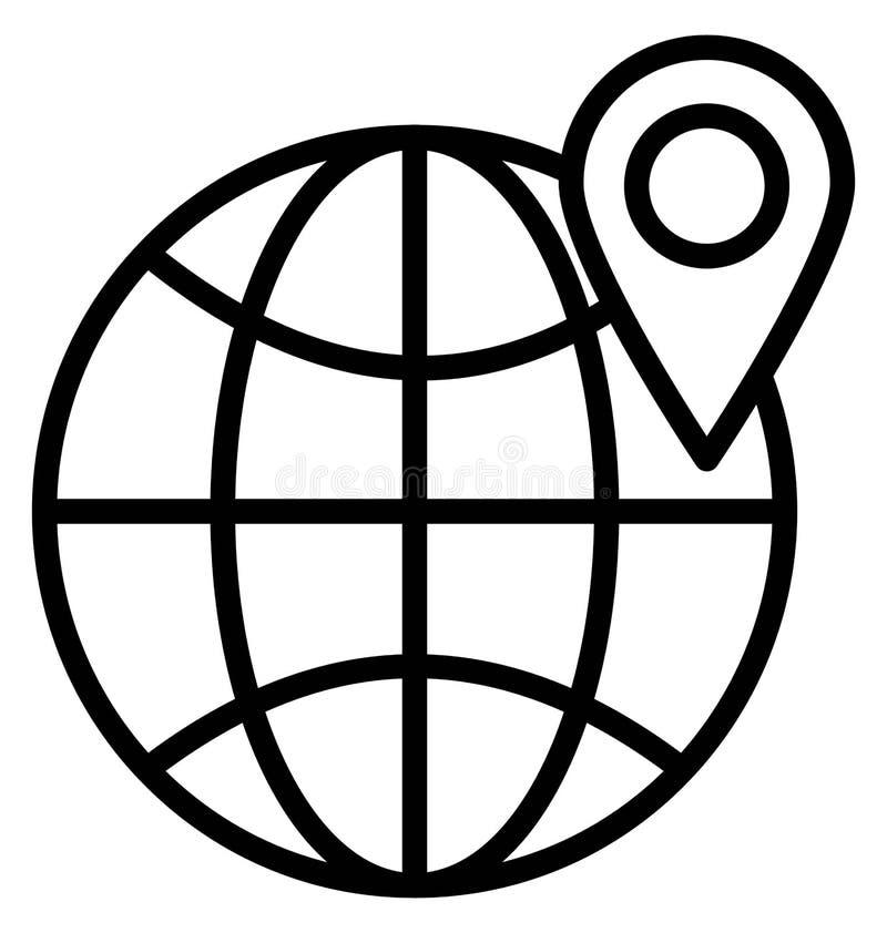 印刷品全球性地点隔绝了可能容易地修改或编辑的传染媒介象 库存例证