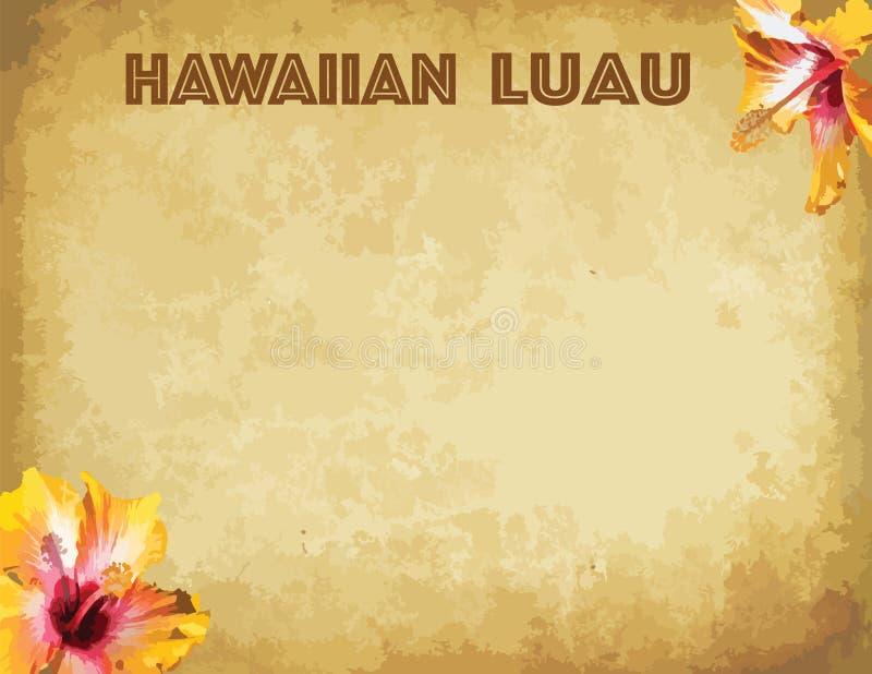 印刷品夏威夷luau党邀请卡片 向量例证